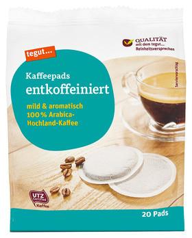 Kaffeepads entkoffeiniert