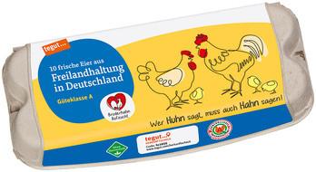10 Eier aus Freilandhaltung in Deutschland Bruderhahn