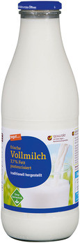 frische Vollmilch 3,7 % Fett pasteurisiert (Glasflasche)