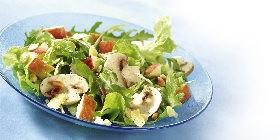 Champignon-Salat mit Apfel
