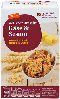 Vollkorn-Rustini Käse & Sesam