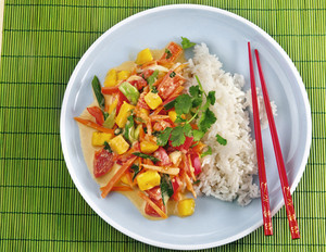 Mango-Kokos-Curry mit Basmatireis
