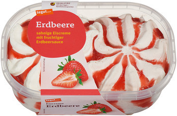 Eiscreme Erdbeere