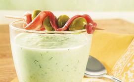 Kalte Gurken-Melonensuppe