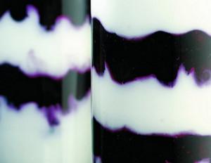 Joghurt-Creme mit Heidelbeeren