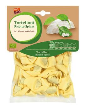 Bio-Tortelloni mit Ricotta-Spinat-Füllung
