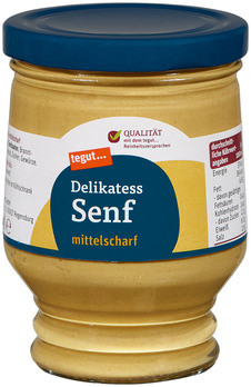 Delikatess Senf mittelscharf (Glas)
