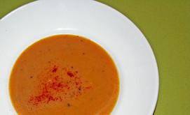 Kürbis-Kokos-Suppe mit Koriander