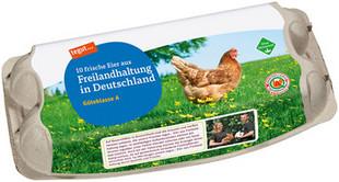 10 Eier aus Freilandhaltung in Deutschland