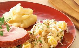 Sauerkraut-Ananas-Salat mit Kasseler