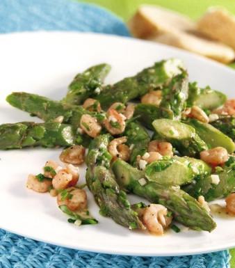 Spargel-Shrimps-Salat