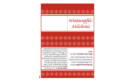 Winterapfel Milchreis Etikett Vorlage