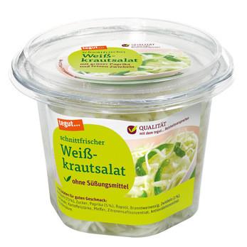 schnittfrischer Weißkrautsalat