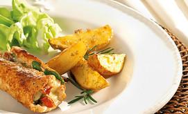 Gefüllte Schnitzel mit Rosmarin-Kartoffeln