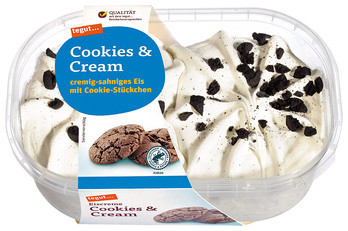 Eiscreme Cookies & Cream