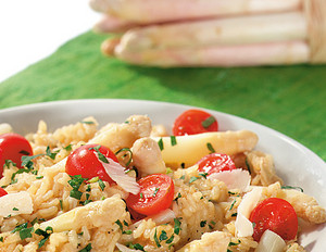 Spargelrisotto mit Parmesan