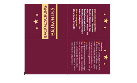 Backmischung Brownies Etikett Geschenkanhänger