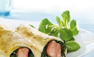 Lachs-Spinat-Canneloni - gratiniert