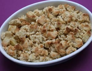Apfel-Marzipan-Crumble
