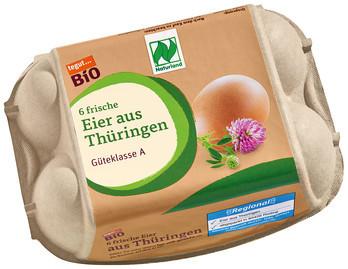 Bio Eier aus Thüringen, 6 Stück