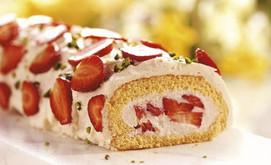 Erdbeer-Joghurt-Rolle
