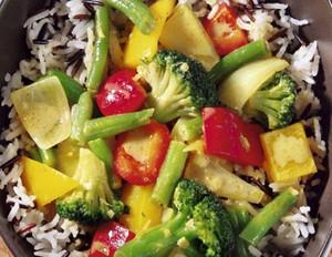 Paprika Curry mit Reis