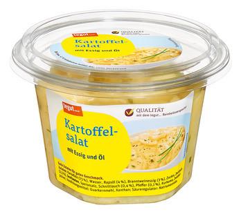 Kartoffelsalat mit Essig und Öl
