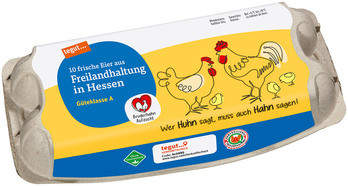 10 Eier aus Freilandhaltung in Hessen Bruderhahn