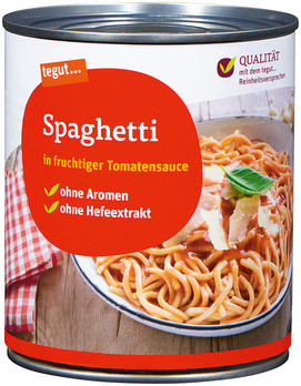 Spaghetti in Tomatensauce
