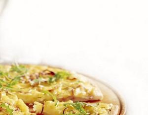 Kartoffel-Rucola-Pizza