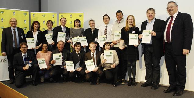 Preisauszeichnung auf BioFach in Nünrberg 2013 mit ausgezeichneten Märkten