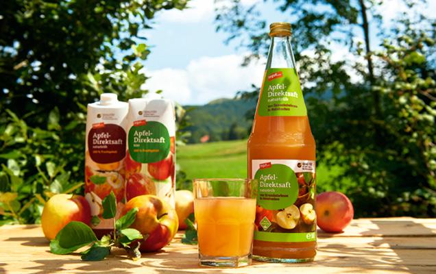 Apfel-Direktsaft aus Mainfranken