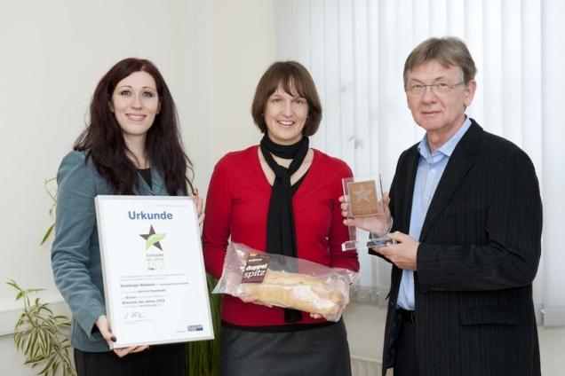 Preisübergabe Biomarke des Jahres 2012 herzberger Doppelspitz