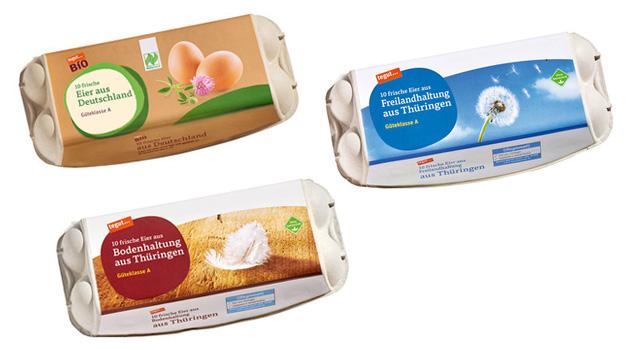 drei tegut Eierkartons