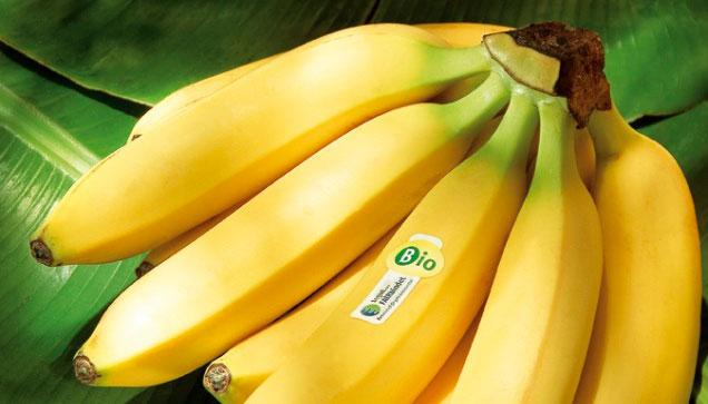 Bio-Bananen der tegut... Marke FAIRbindet