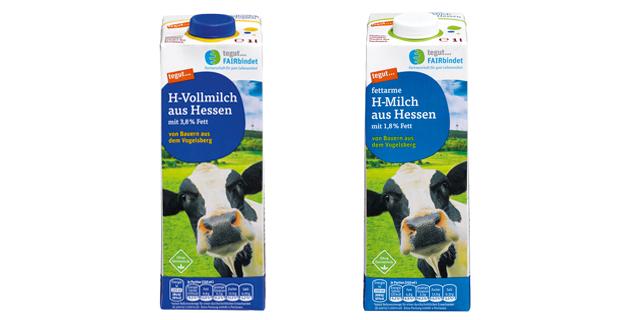 Fairbindet H-Milch Packungen