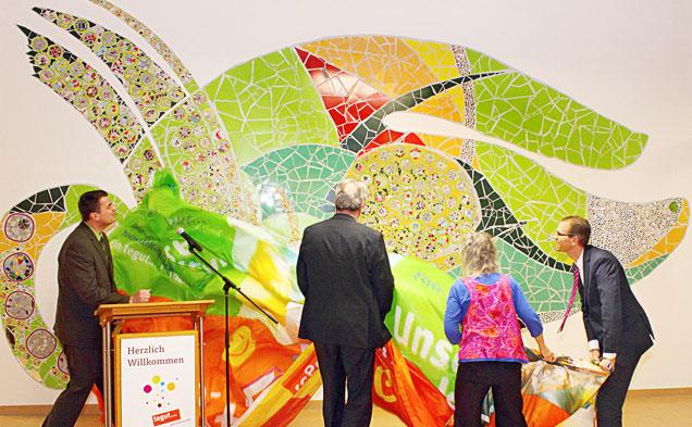 Mosaik-Kunstwerk in Marburg- Cappel