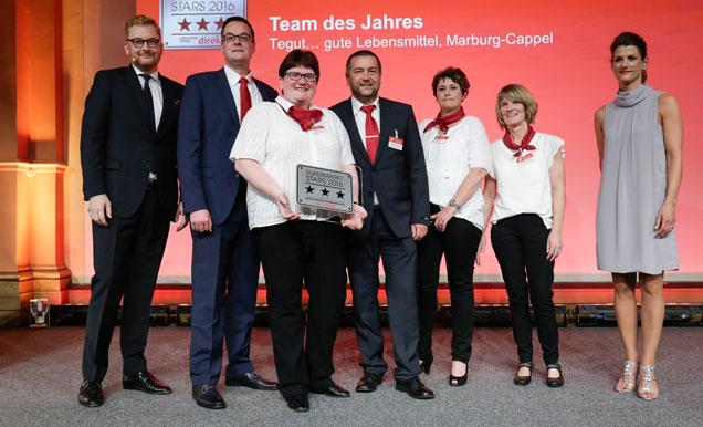 Übergabe der Auszeichnung Team des Jahres für den Marburg-Cappel Markt