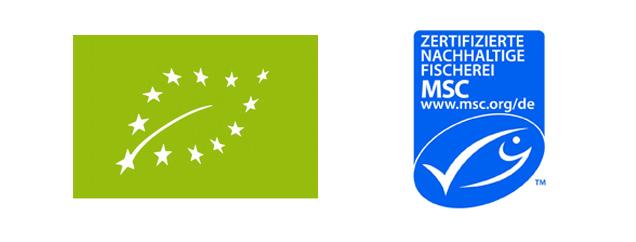 MSC- und Eu-Bio Siegel