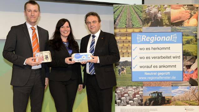 Andreas Petke, Giannina Feuerstein und Dr. Hans-Peter Friedrich, Bundesminister für Ernährung und Landwirtschaft