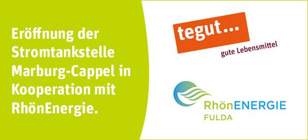 Logos von tegut und RhönEnergie