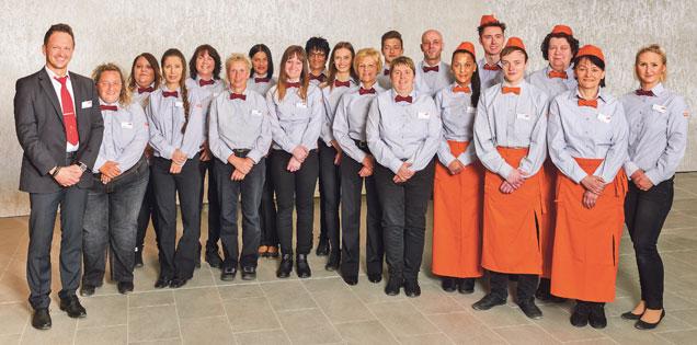 Team des Marktes Ansbach