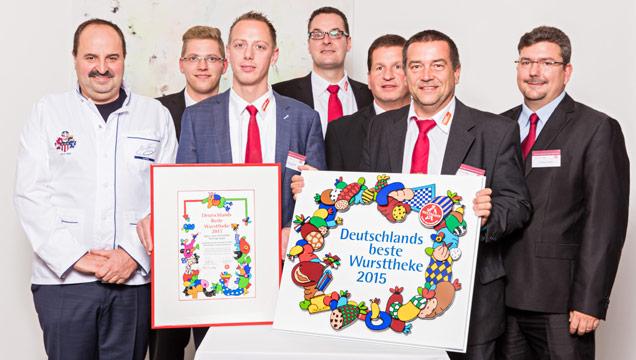 Gruppenbild Auszeichnung Deutschlands beste Wursttheke 2015