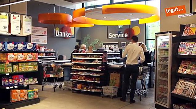 Kassenbereich des tegut Marktes Wiesbaden, Richard-Wagner-Straße