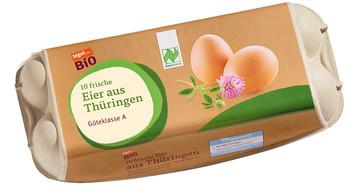 Bio Eier aus Thüringen, 10 Stück