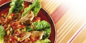 Romanasalat mit Hähnchenbrustfilet