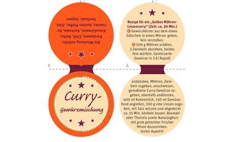 Geschenkanhänger Etikett Curry-Gewürzmischung